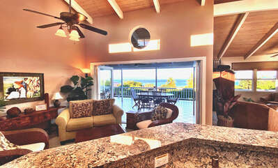 Amazing ocean views from the kitchen and living areas