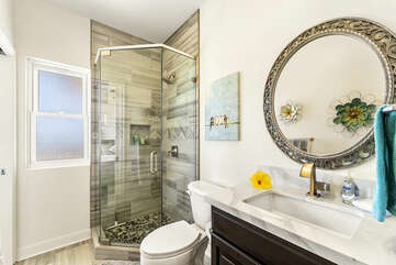 Bathroom with Shower and Single Sink