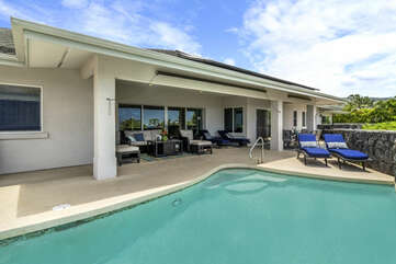 View of the Covered Lanai and Private Pool