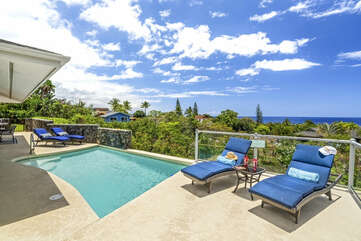 Pool Area with 180 Degree Ocean View
