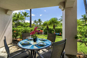 Private lanai perfect for outdoor dining