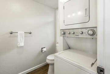 In unit washer & dryer located in powder room