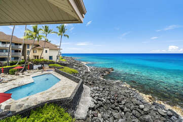 Pool view from our kona hawaii vacation rental