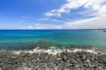 Beach view from our kona hawaii vacation rentals