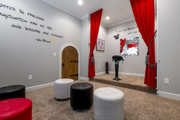 The magic is alive in this secret playroom between the Harry Potter and Snow White bedrooms