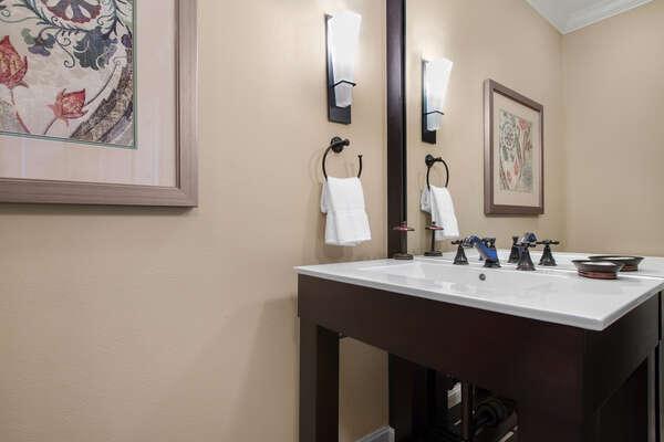 Games room half bathroom