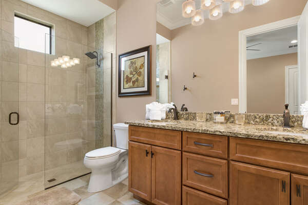 Enjoy the privacy of an en-suite bathroom while vacationing