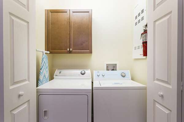 You will have access to a full sized washer and dryer in the condo