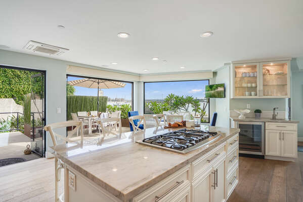 Fully Stocked Kitchen with Bay Views