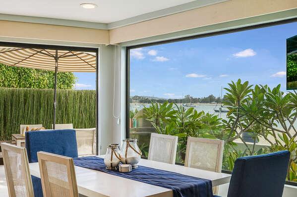 Dining Area w/ Bay Views