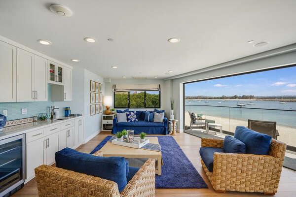 Living Room w/ Bay Views