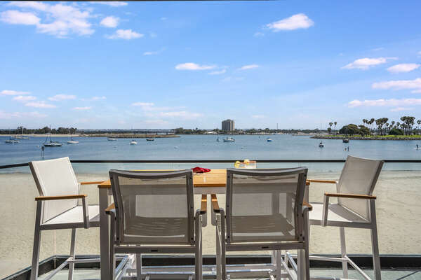 Outdoor Dining Overlooking the Bay