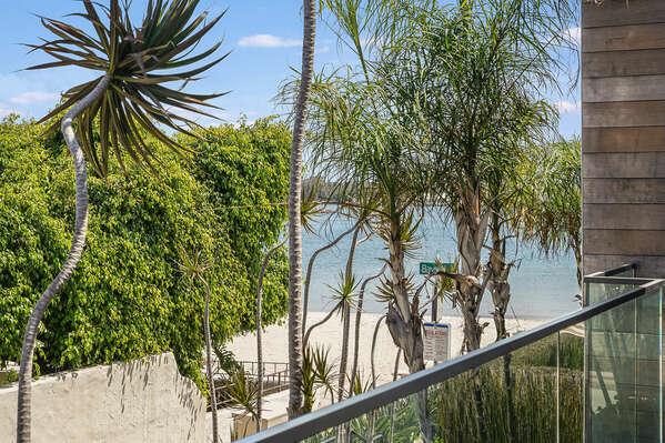 Deck w/ Bay Views Between Master Bedroom & Bunk Room
