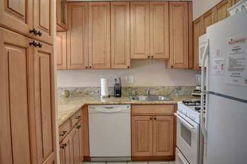 Updated cabinetry and granite counters