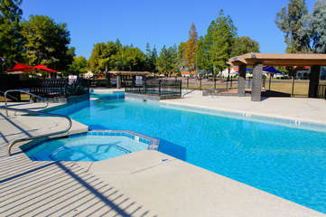 Community pool and other amenities are across the street from our home.