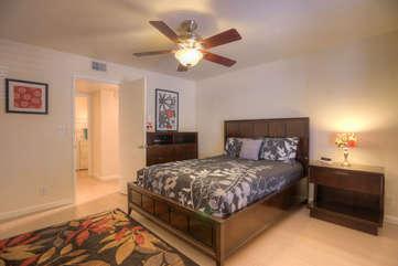 Second master bedroom has queen bed