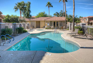 Heated community pool and hot tub are a short, convenient walk from home