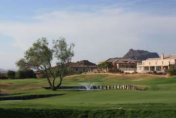 Lots of challenging public golf courses to choose from with the Superstition Mountains as a backdrop.