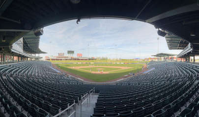Sloan Park, home of the Chicago Cubs spring training stadium, is a short commute for our baseball enthusiasts