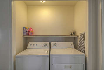 Washer and dryer in hallway alcove will help you keep your wardrobe  ready for the next adventure