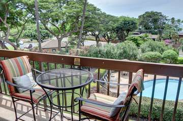 Open lanai with pool and panoramic ocean views