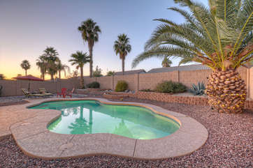 This private oasis is the ideal place to escape the winter blues! You don't have to shovel sunshine.