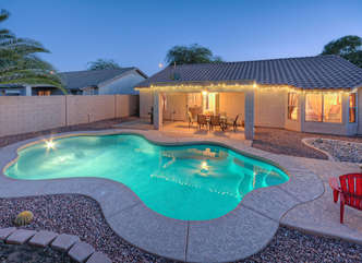 Enjoy delightful dips year round in the private pool with optional heat at EDGEWOOD.