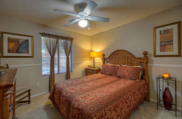 All bedrooms have ceiling fans and are well appointed.
