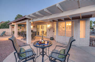Cheers to beautiful Chandler area home with appealing features that include spacious patio in large, private backyard