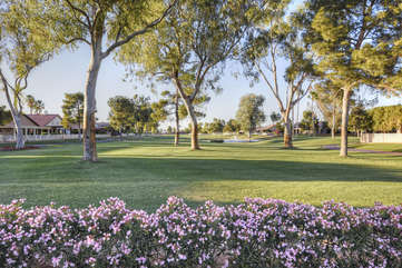 Community has well maintained grounds and spectacular views
