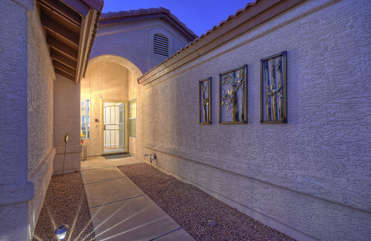 Private entrance welcomes you to lovely home with appreciative amenities