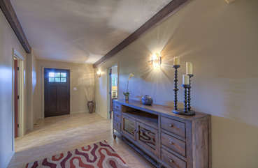 Charming entrance foyer hints at what's beyond our spectacular home