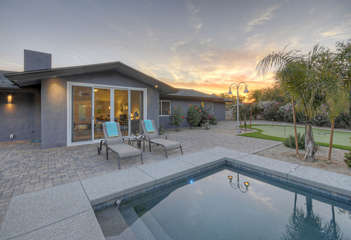 Pool can be heated for an additional fee so you can swim laps even on sunny winter days.