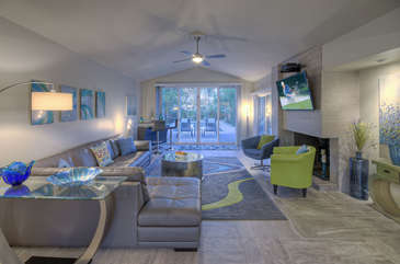 Open floor plan with modern luxurious furnishings will wow you!
