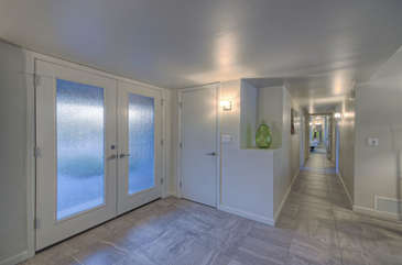 Bright foyer welcomes you to our dream come true vacation home.