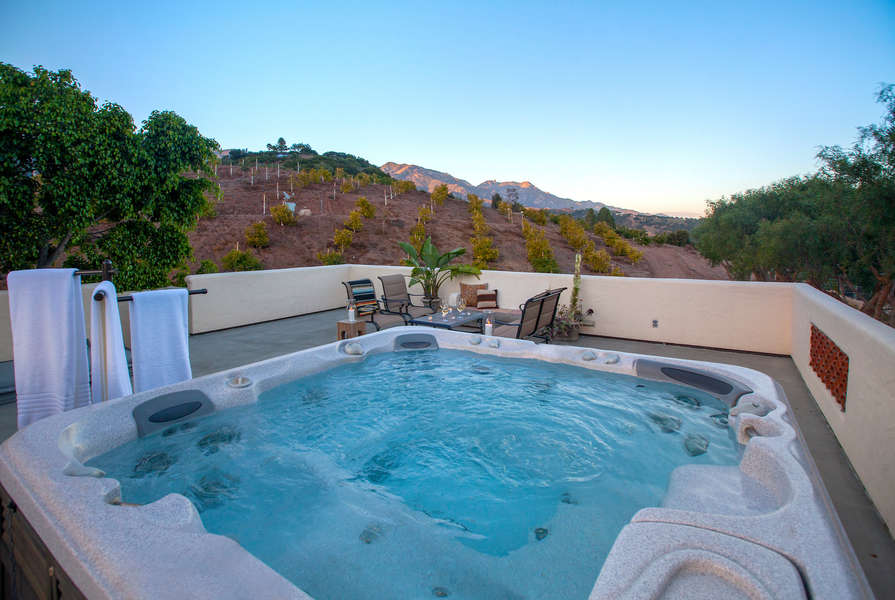 Soak in the hot tub after the day's activities