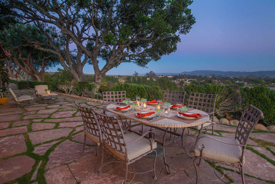 Dine al fresco and savor the vista!