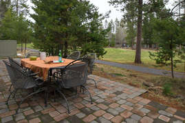 Paver Patio with golf course views