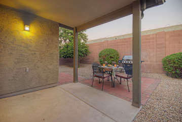 Enclosed yard with no back neighbors offers a quiet and private place to enjoy the good life