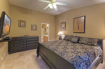 Primary suite provides a restful place to watch TV or dream of Arizona adventures
