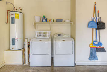 Laundry area is well stocked so you can keep your wardrobe ready for the next adventure