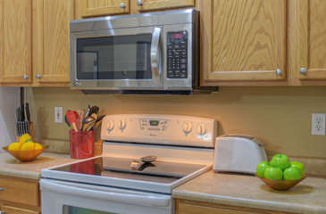 Kitchen has all the conveniences of home so food and drink preps are easy