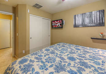 With king beds and televisions in both bedrooms, it's like having 2 primary bedrooms