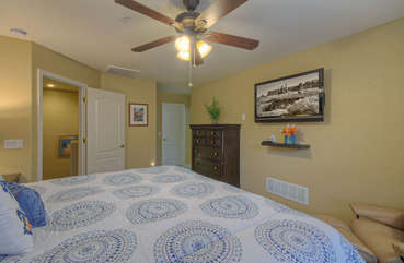 Second floor master suite is newly remodeled and has large TV for viewing pleasure in privacy of suite