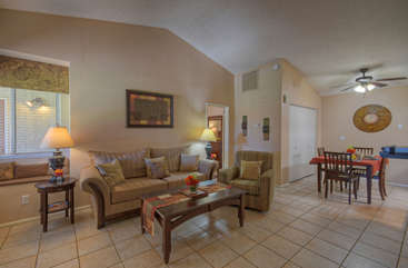 Northpointe has an open floor plan with attractive and inviting living spaces.