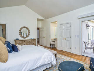 Ample space in the master bedroom