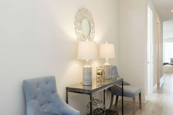 As you walk into this beautiful home you will be greeted with luxury furnishings and tasteful design
