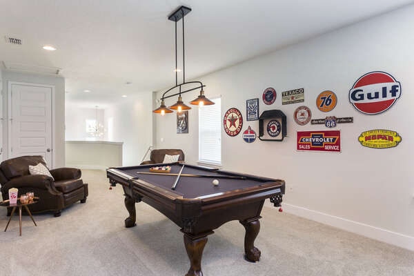 Play a game of pool and enjoy some family competition