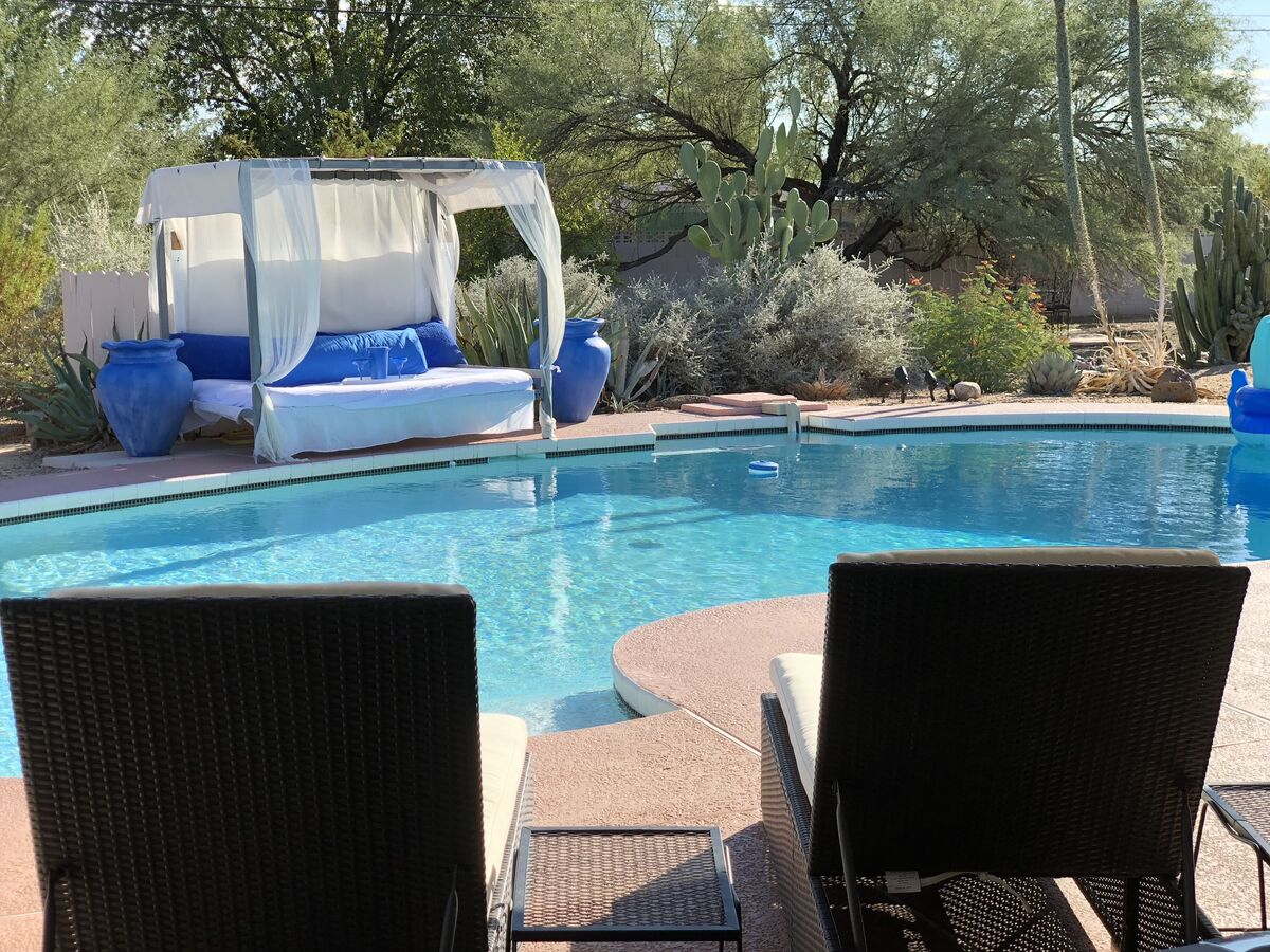 Resort Style Pool -  Surrounded by Stunning Desert Landscape. This is why we named this home