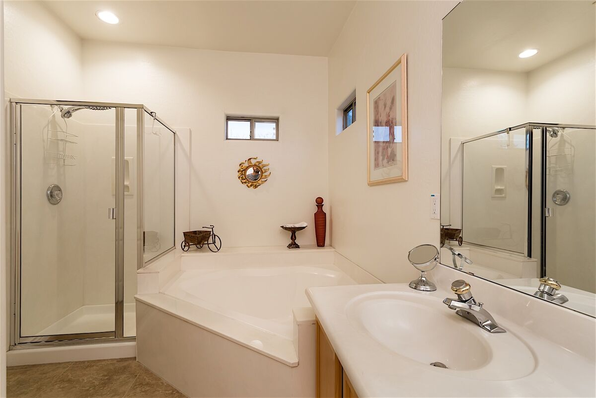 Master bath stand up shower and separate Tub